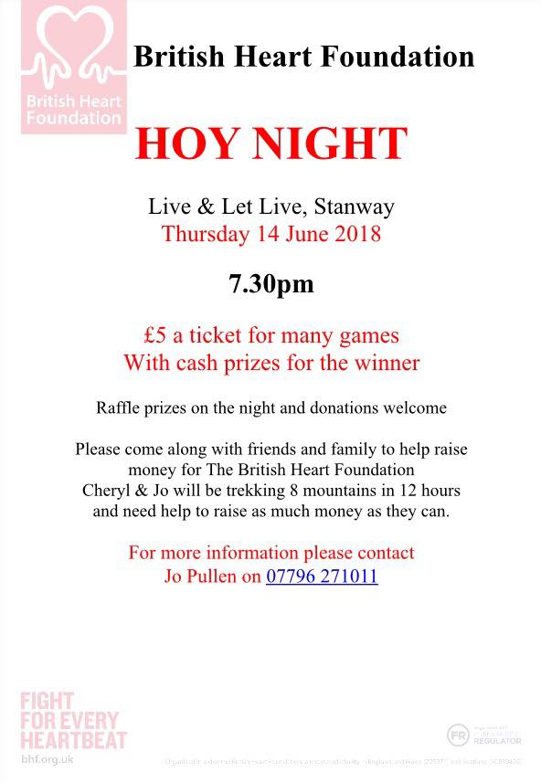Charity Night for British Heart Foundation