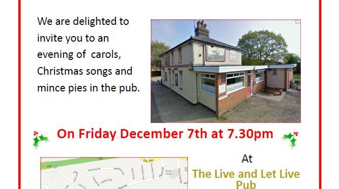 Carols in the Pub 2018