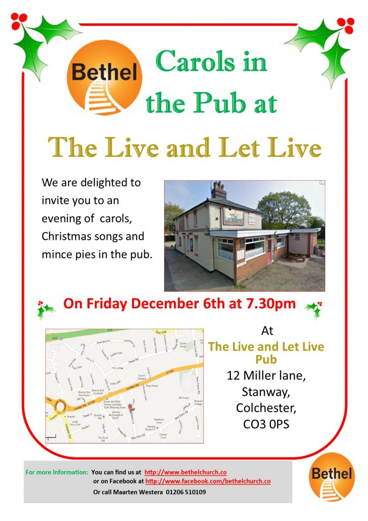 Carols in the Pub 2019