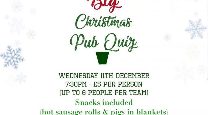 The Big Christmas Pub Quiz