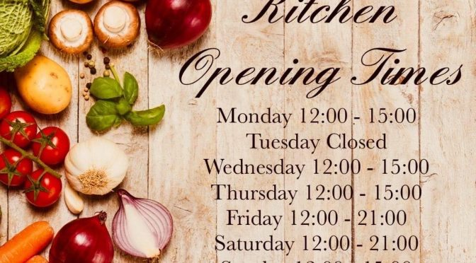 Kitchen Opening Times